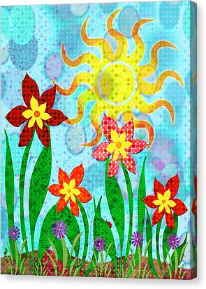 Fanciful Flowers Canvas Print by Shawna Rowe