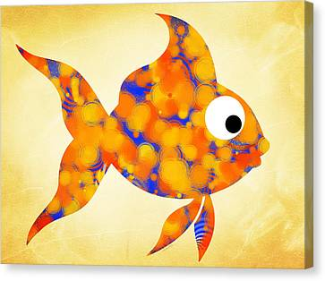 Fancy Goldfish Canvas Print by Christina Rollo
