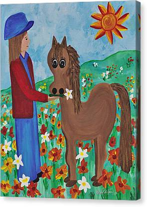 Fantasy Filly Canvas Print by Barbara St Jean
