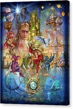 Fantasy Island Canvas Print by Ciro Marchetti