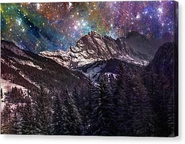 Fantasy Mountain Landscape Canvas Print by Martin Capek