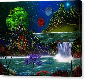 Fantasy Planets Canvas Print by Michael Rucker