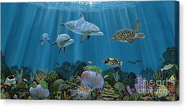 Fantasy Reef Re0020 Canvas Print by Carey Chen