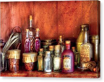 Fantasy - Wizard's Ingredients Canvas Print by Mike Savad