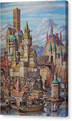 Fantasy World Canvas Print by Henry David Potwin