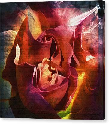 Farewell My Lovely - Grunge Abstract Canvas Print by Georgiana Romanovna