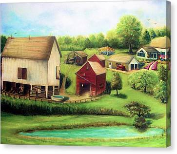 Farm Canvas Print by Bernadette Krupa
