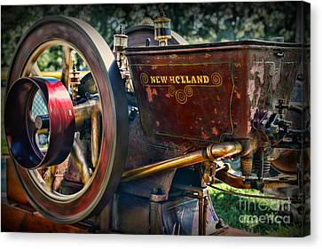 Farm Equipment - New Holland Feed And Cob Mill Canvas Print by Paul Ward