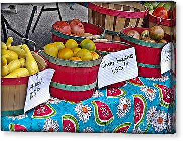 Farm Fresh Produce At The Farmers Market Canvas Print by JW Hanley