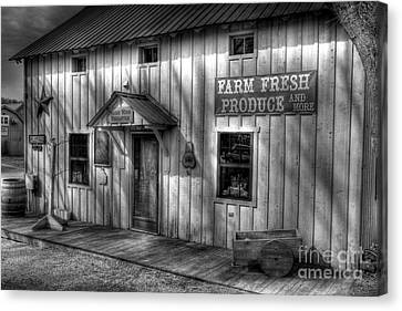 Farm Fresh Produce Bw Canvas Print by Mel Steinhauer