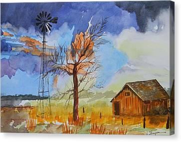 Farm In Clayton County  Canvas Print by Warren Thompson