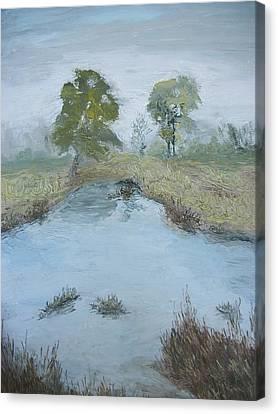 Farm Pond Canvas Print by Dwayne Gresham
