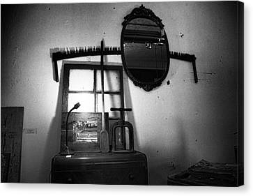 Farm Salvage Found Objects Store II Canvas Print by Toni Hopper