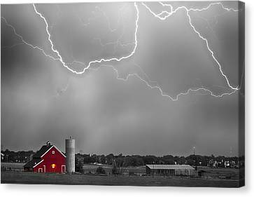 Farm Storm Hdr Bwsc Canvas Print by James BO  Insogna