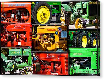 Farm Tractor Collage Rectangle Canvas Print by Thomas Woolworth