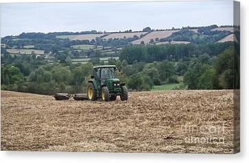 Farm Tractor Canvas Print by John Williams