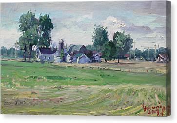 Farm Canvas Print by Ylli Haruni