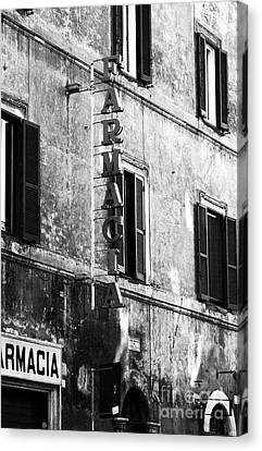 Farmacia Canvas Print by John Rizzuto