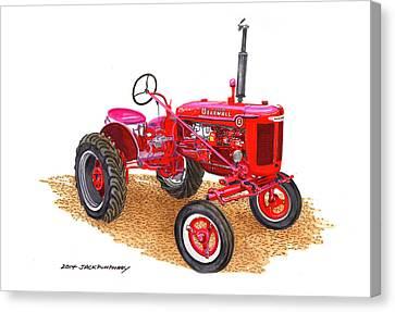 Farmall Tractor 1946 Model A Canvas Print by Jack Pumphrey