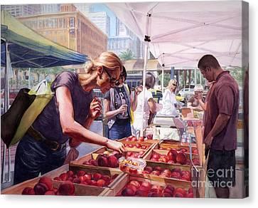 Farmer's Market Canvas Print by Isabella Kung