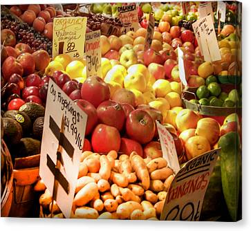 Farmers Market Canvas Print by Karen Wiles