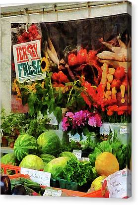 Farmer's Market Canvas Print by Susan Savad