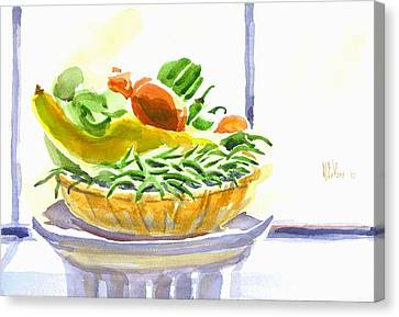 Farmers Market V Summers Harvest In The Window Canvas Print by Kip DeVore