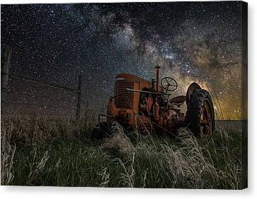 Farming The Rift Canvas Print by Aaron J Groen