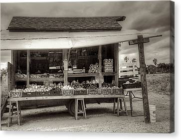 Farmstand Canvas Print by William Wetmore