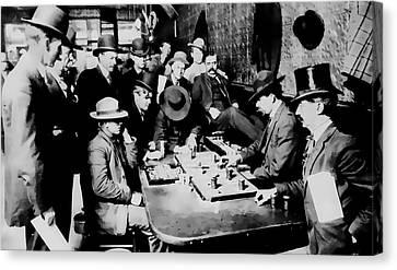 Faro Game Orient Saloon C. 1900 - Arizona Canvas Print by Daniel Hagerman