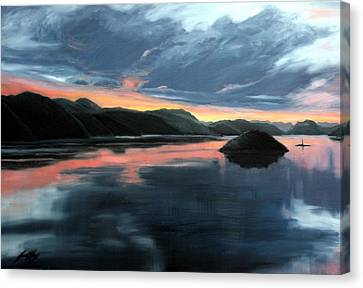 Farsund Sunrise Canvas Print by Janet King
