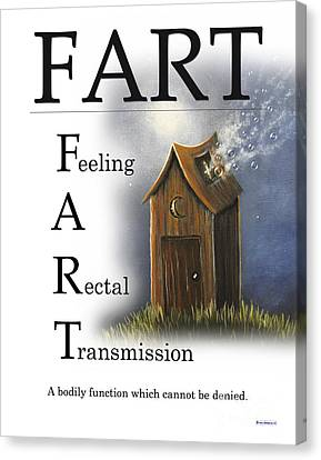 Fart Buseyism By Gary Busey Canvas Print by Buseyisms Inc Gary Busey