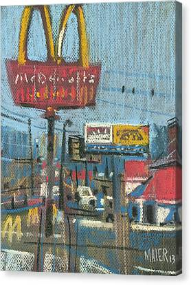 Fast Foods Canvas Print by Donald Maier