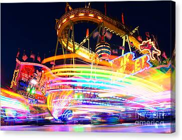Fast Ride At The Octoberfest In Munich Canvas Print by Sabine Jacobs