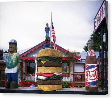 Fat Smitty's Diner - Discovery Bay Washington Canvas Print by Mountain Dreams