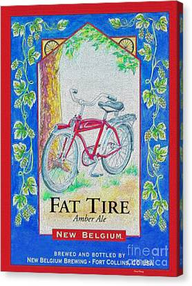 Fat Tire Canvas Print by Cheryl Young