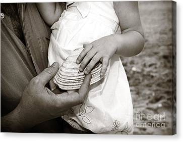 Father And Daughter Canvas Print by John Rizzuto