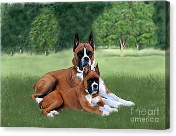 Father And Daughter Canvas Print by Linda Gleason Ritchie