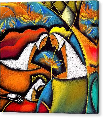Father And Mother Canvas Print by Leon Zernitsky