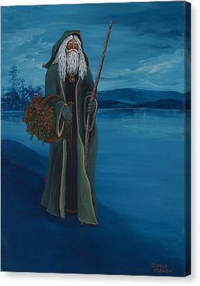 Father Christmas Canvas Print by Darice Machel McGuire