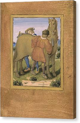 Fauveau; To Curry Favour Canvas Print by British Library