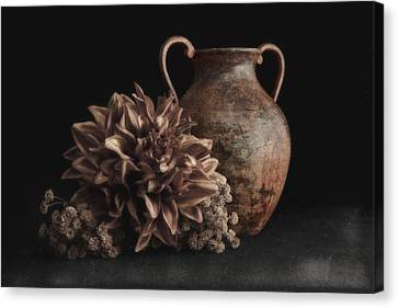 Faux Flower Still Life Canvas Print by Tom Mc Nemar