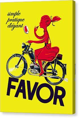 Favor Lipstick 1950 Canvas Print by Mark Rogan