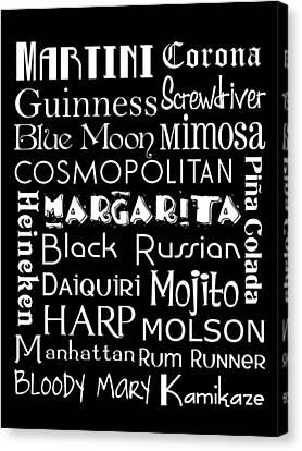 Favorite Drinks  Canvas Print by Jaime Friedman