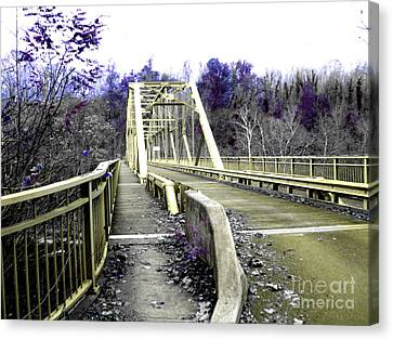 Fayette Station Bridge Canvas Print by Amy Sorrell