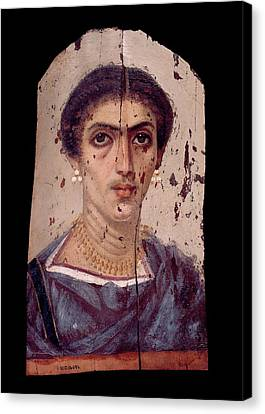 Fayum Mummy Portrait Canvas Print by Petrie Museum Of Egyptian Archaeology, Ucl