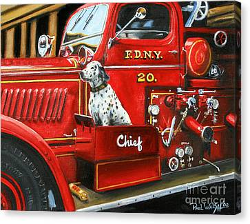 Fdny Chief Canvas Print by Paul Walsh