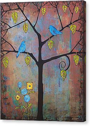 Feathered Friends Canvas Print by Blenda Studio