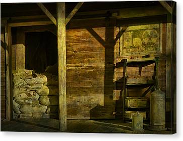 Feed Mill Store Canvas Print by Randall Nyhof