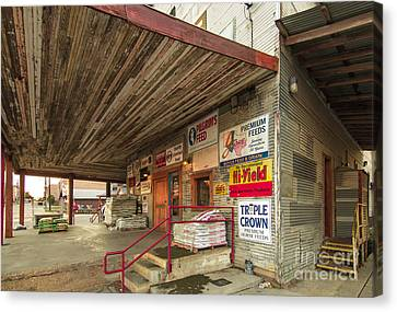 Waxahachie Feed Store Canvas Print by Robert Frederick